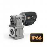 Цилиндрические мини мотор-редукторы с параллельными валами серии KFT105/FT с защитой IP66