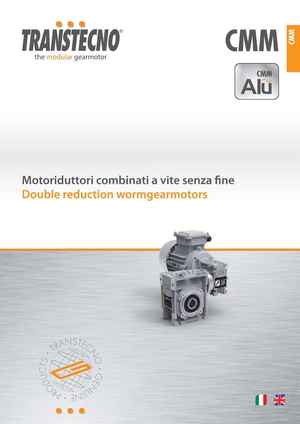 Двухступенчатые мотор-редукторы серии CMM.
