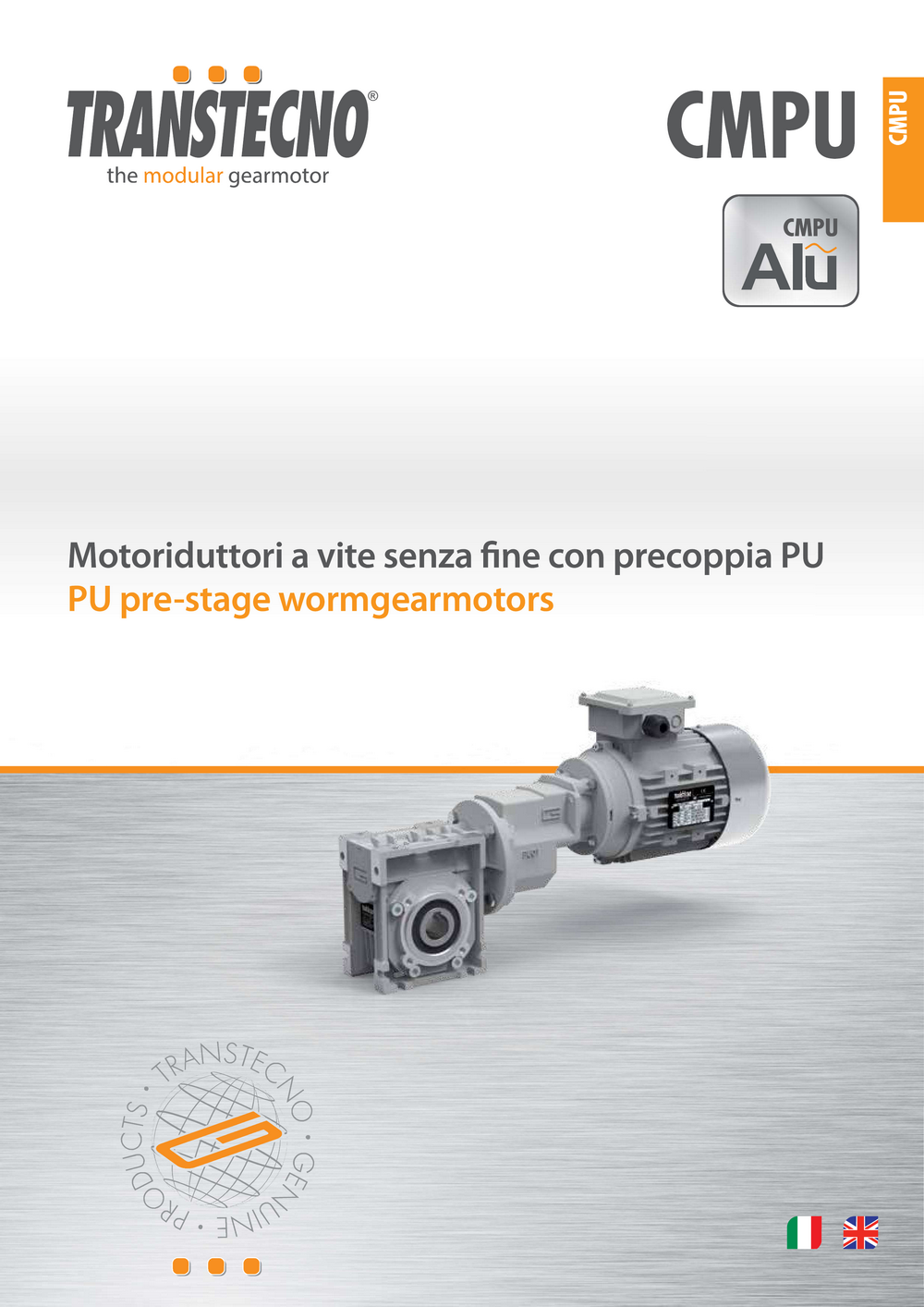 Цилиндро-червячный мотор-редуктор CMPU Transtecno.