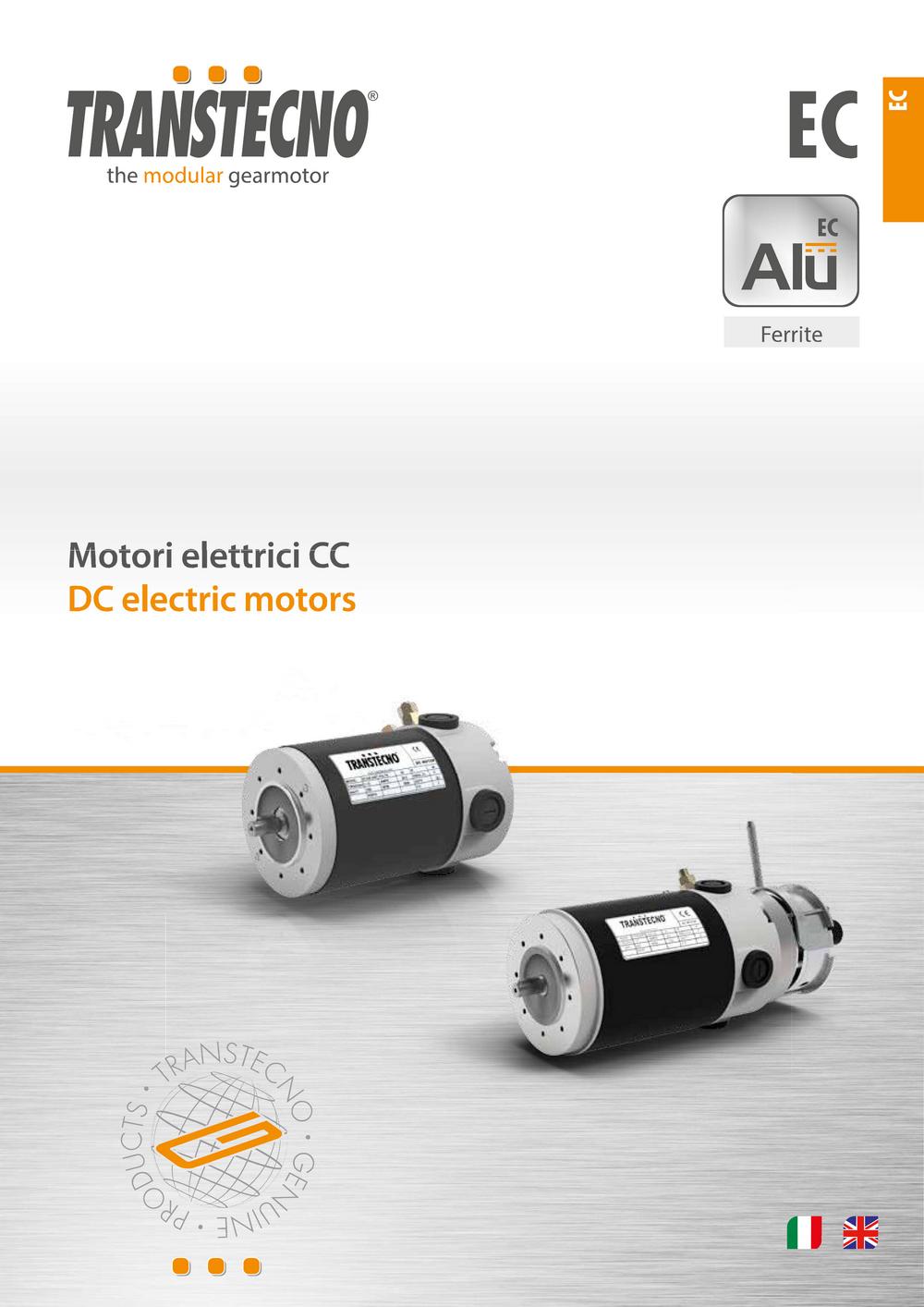 Двигатели TRANSTECNO с ферритовыми магнитами EC.