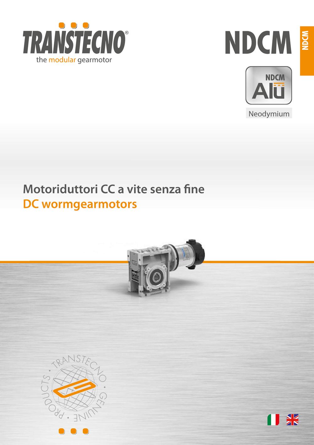 Червячный мотор-редуктор с двигателем постоянного тока с неодимовыми магнитами.