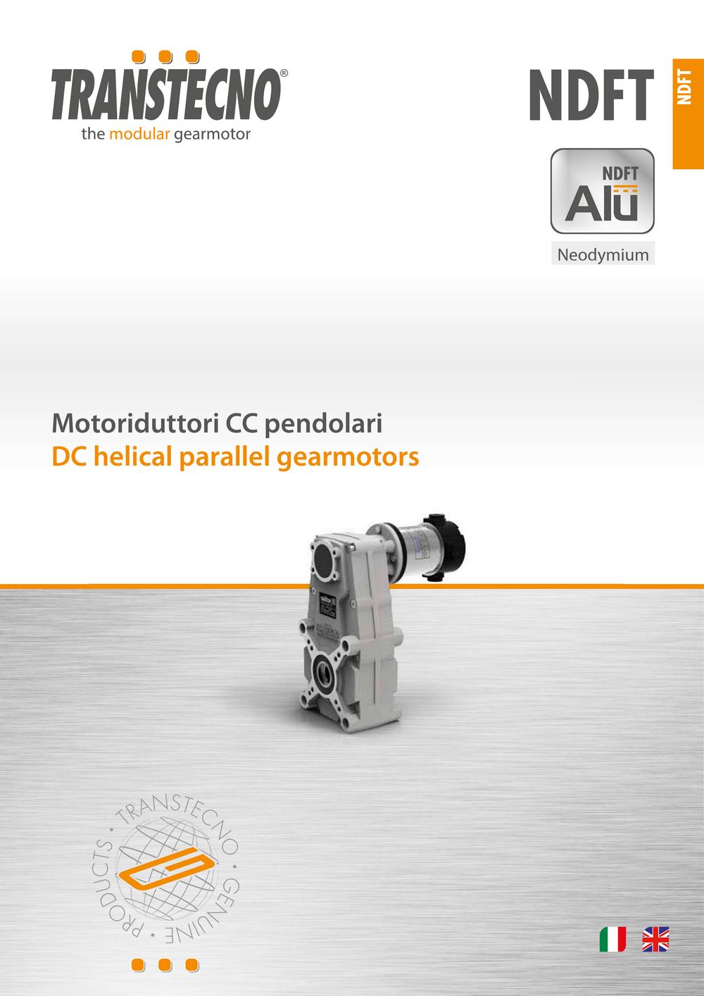 Мотор-редуктор с параллельными валами NDFT.