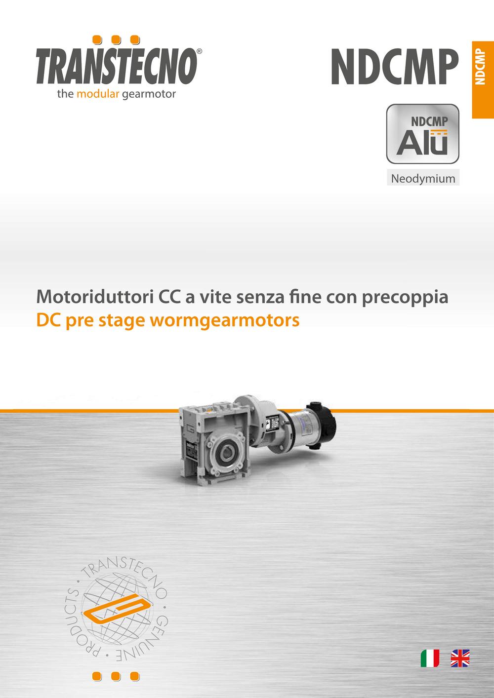 Цилиндро-червячные мотор-редукторы NDCMP.