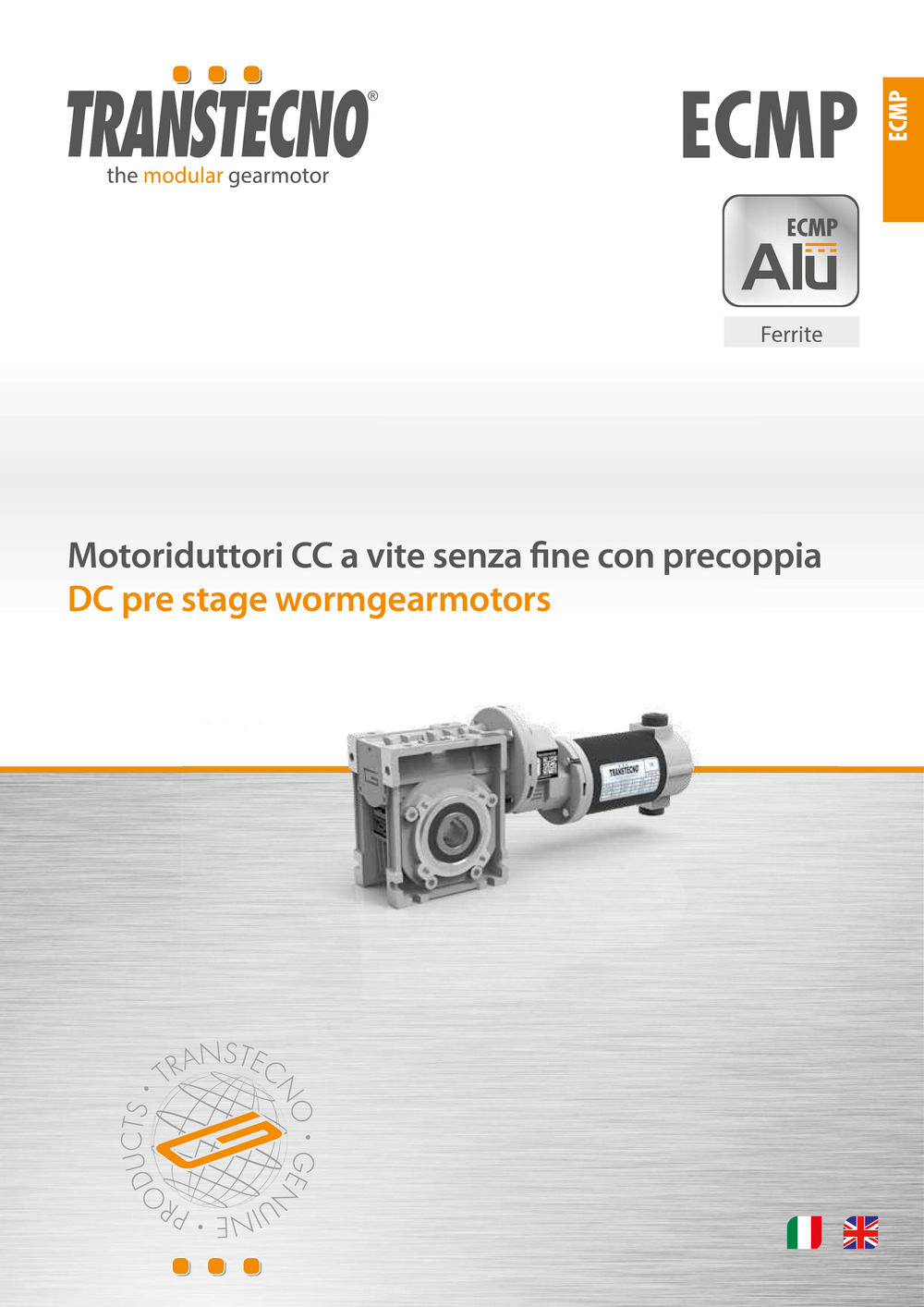 Цилиндро-червячный мотор-редуктор с двигателем постоянного тока.