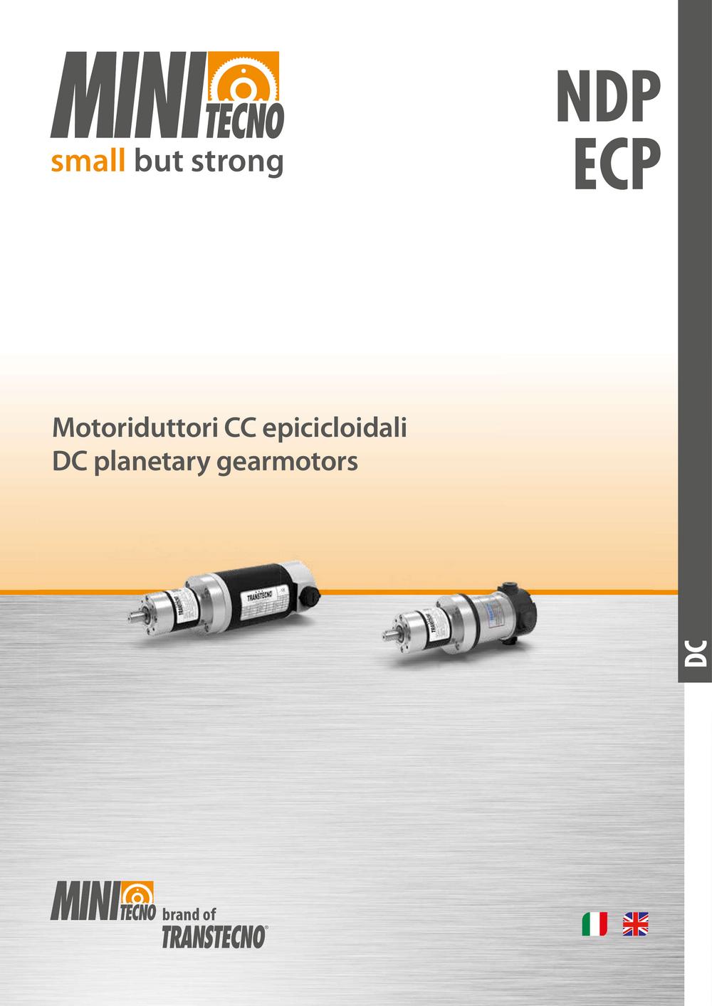 Планетарные мотор-редукторы серии ECP, NDP.