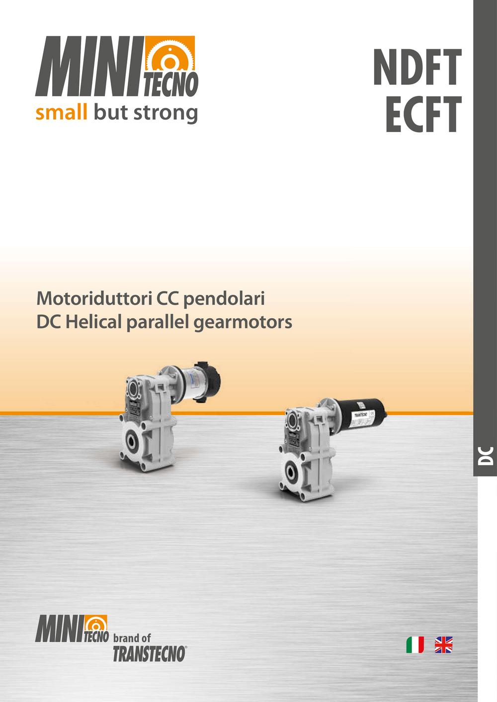 Мотор-редуктор с параллельными валами серии ECFT