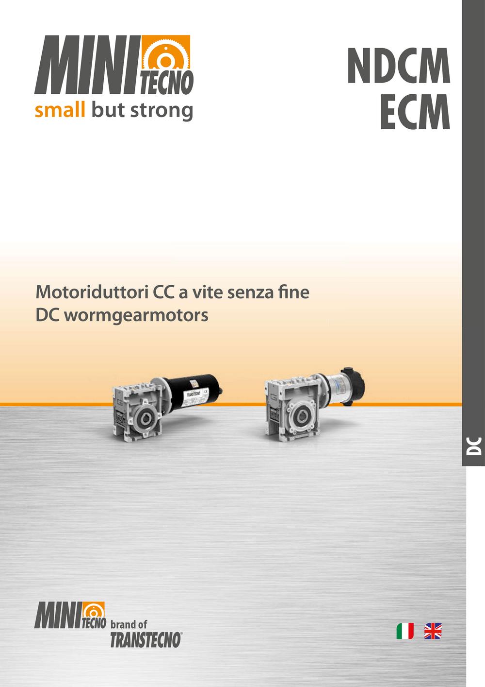 Червячный мотор-редуктор с двигателем постоянного тока.