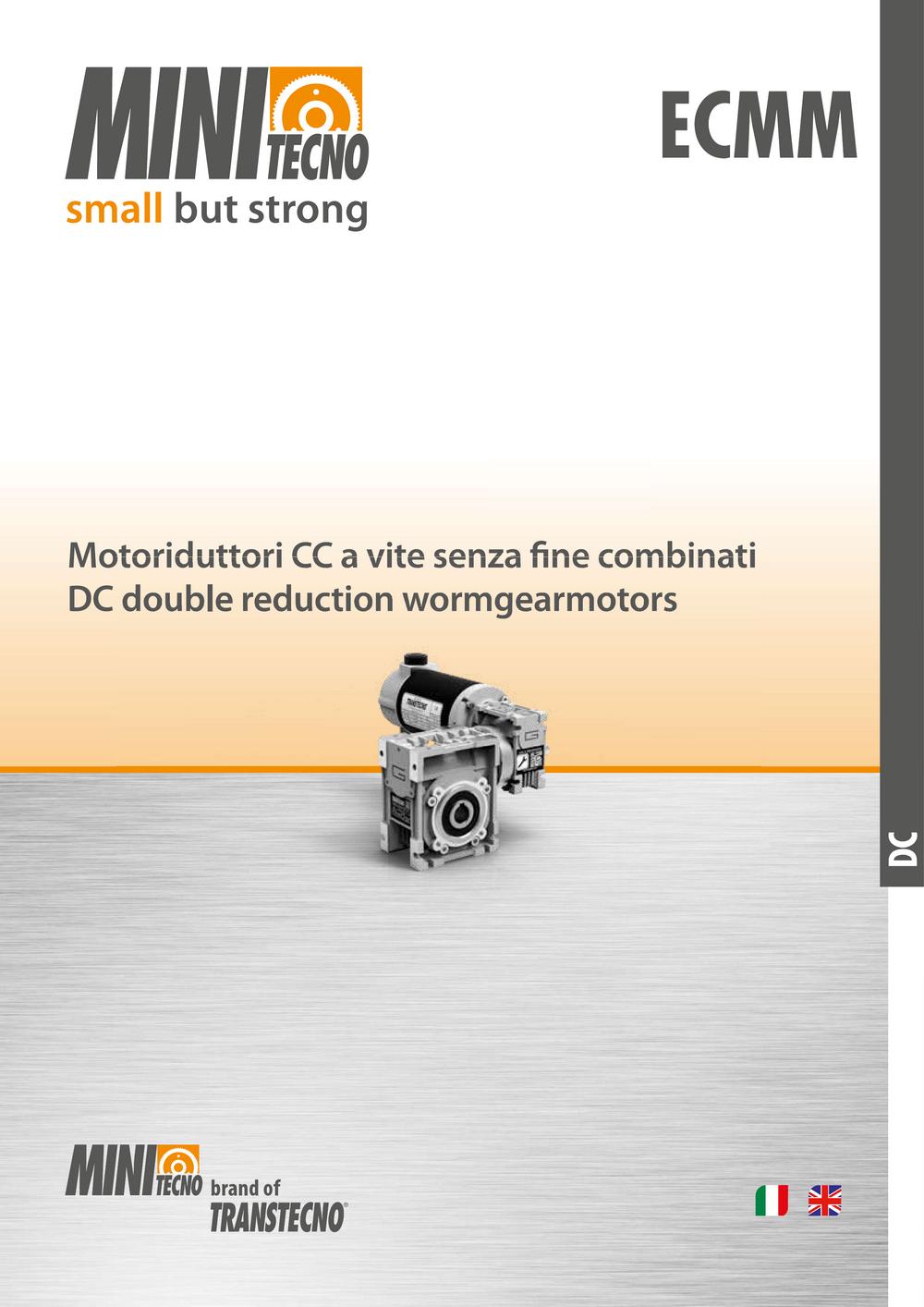 Двухступенчатые мотор-редукторы серии ECMM с двигателем постоянного тока.