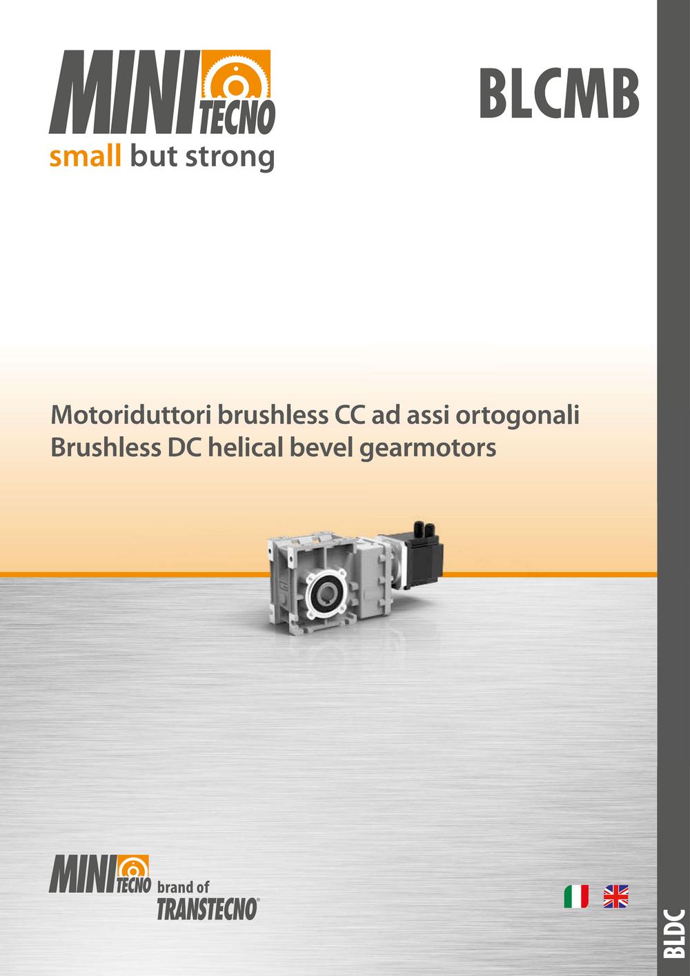 Коническо-цилиндрические мотор-редукторы BLCMB с бесколлекторным двигателем.
