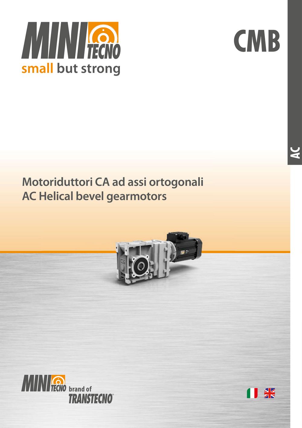 Коническо-цилиндрические мотор-редукторы серии CMB.
