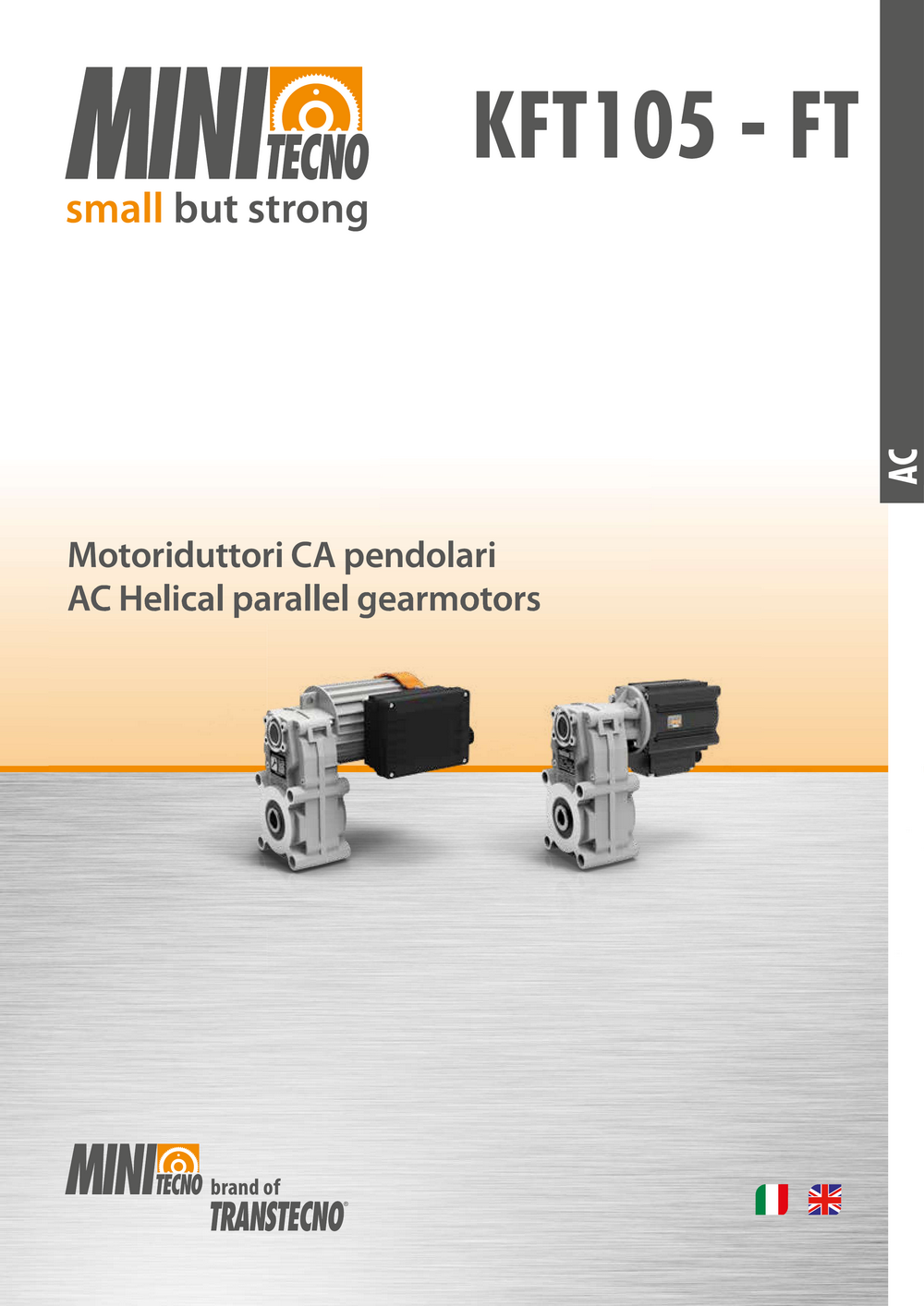 Цилиндрический мотор-редуктор с параллельными валами FT.