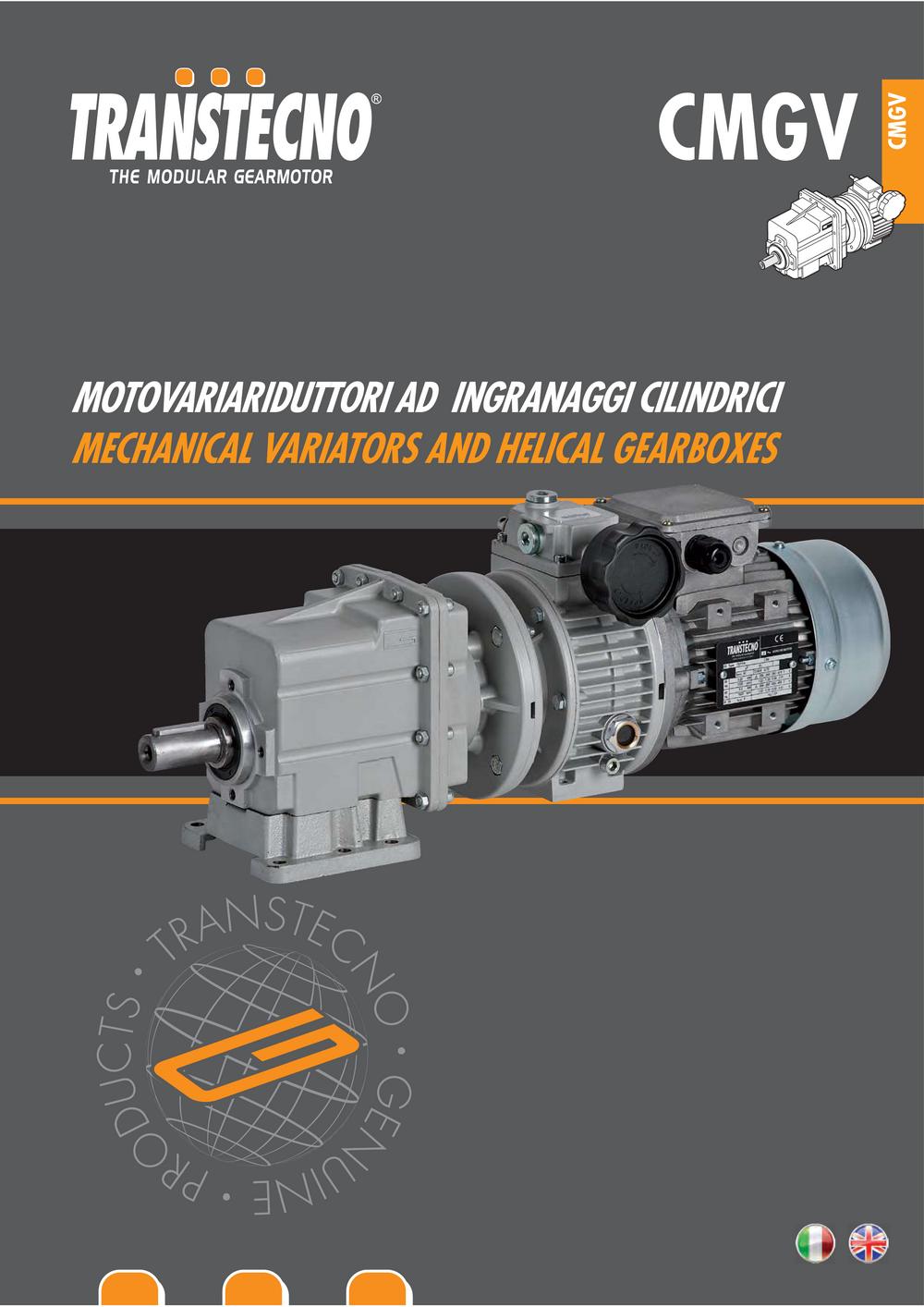 Цилиндрический мотор-редуктор с вариатором.