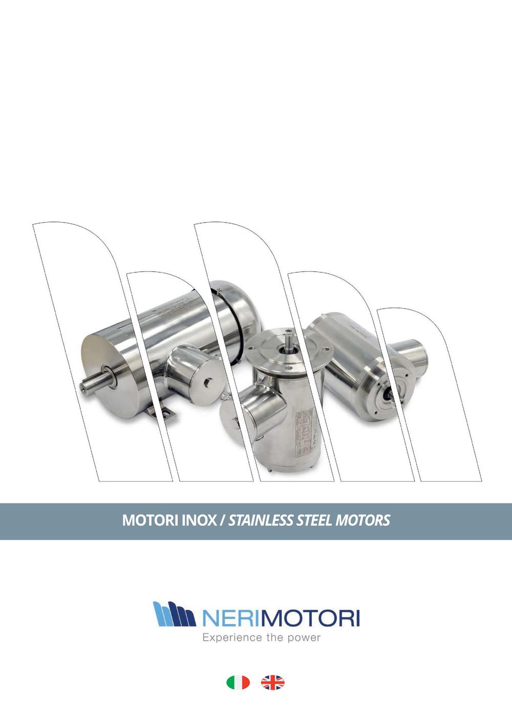 Двигатели Neri Motori из нержавеющей стали Stainless steel.