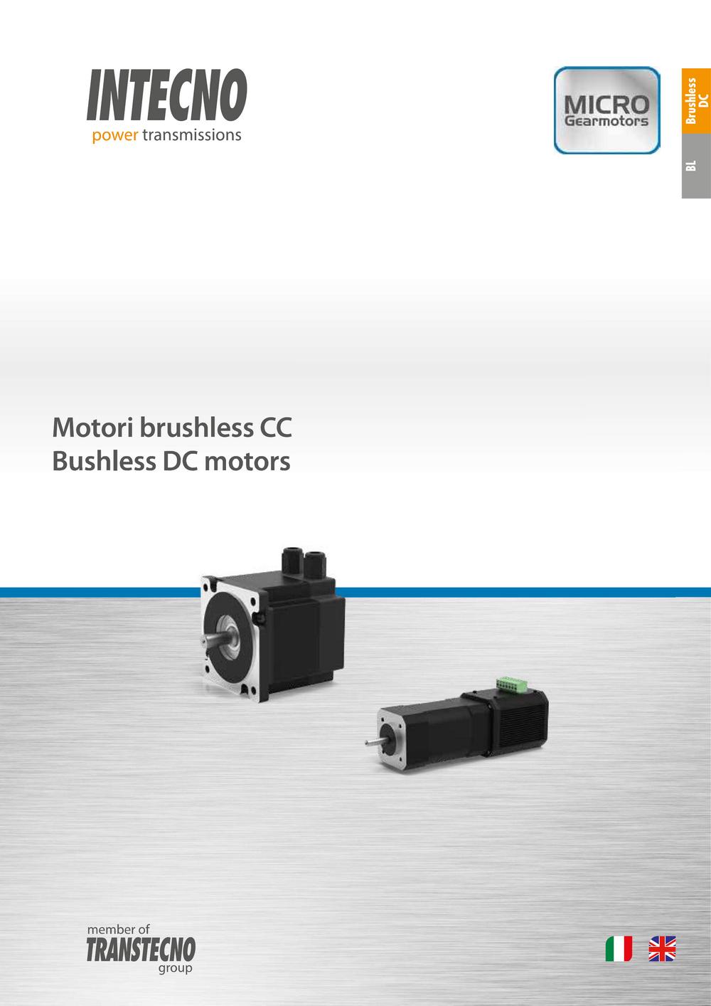 Бесколлекторные двигатели постоянного тока BL Intecno