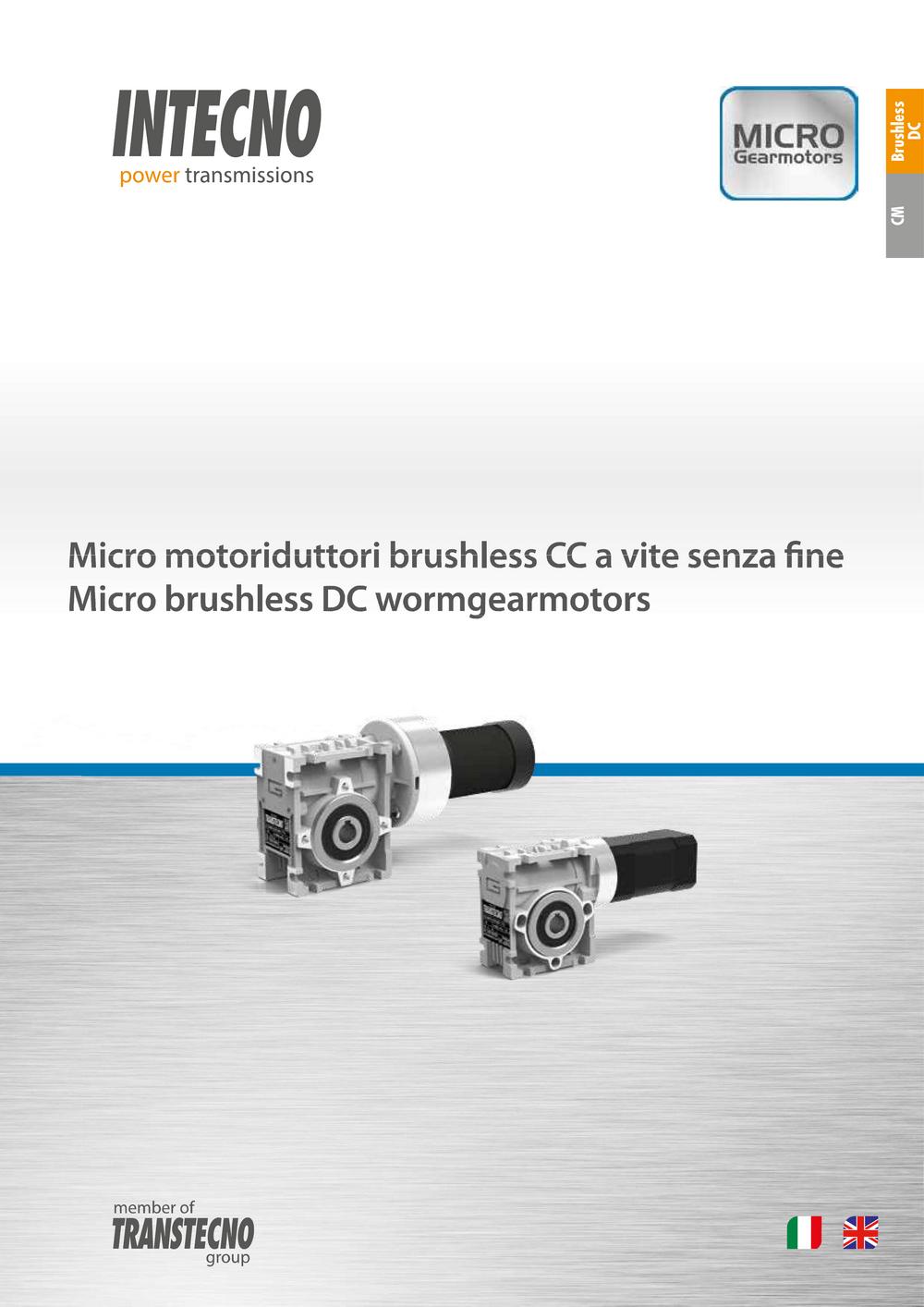 Червячные мотор-редукторы с двигателями постоянного тока BLCM Intecno
