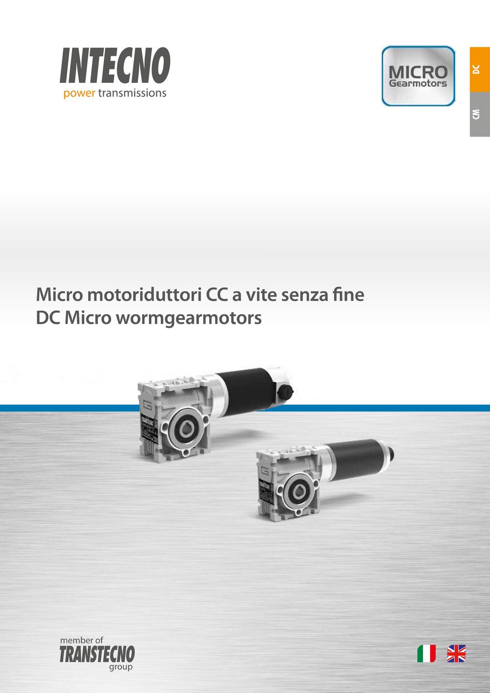 Червячные мотор-редукторы с двигателями постоянного тока ECM Intecno.